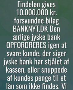 JYSKE BANK 10.000.000 gode grunde til at stoppe jeres løgne