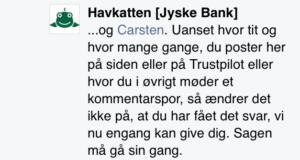 Jyske Bank siger at sagen må gå sin gang, uden at svare