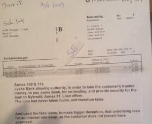 Spørger jo bare om denne garenti jysske bank har hævet til er falsk, hvor er lånet